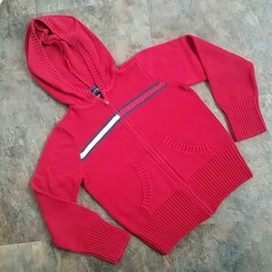 Size 7 kids Tommy Hilfiger sparkle hoodie sweater